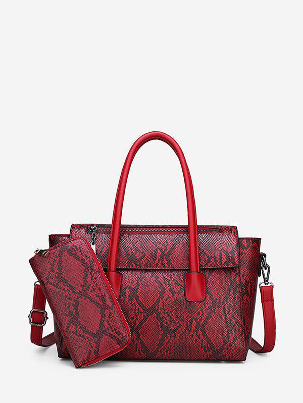 Hot Animal Skin Print Pattern Handbag Purse Set