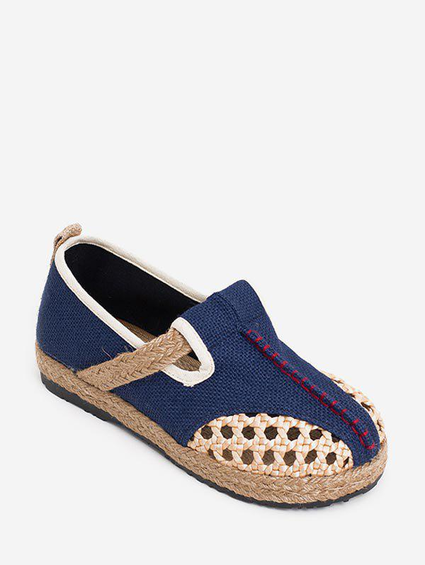 Chic Ethnic Hollow Out Espadrille Flat Shoes