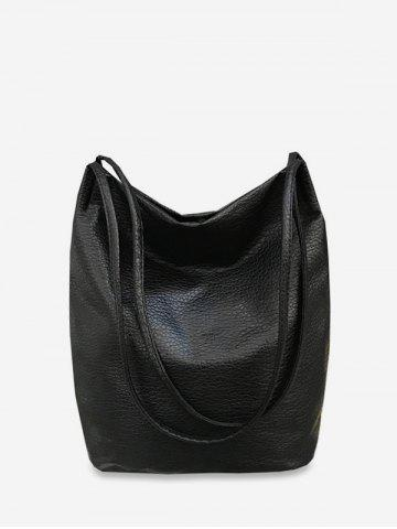 Vintage Solid Brief Shoulder Bucket Bag