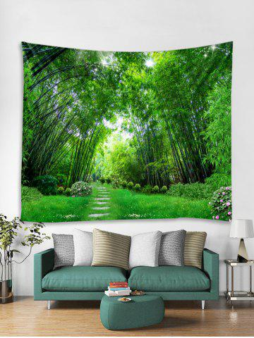 Bamboo Forest Trail Print Tapestry Wall Hanging Art Decoration