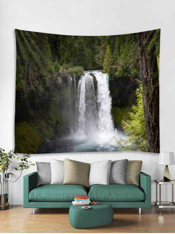Forest Stream Waterfall Print Tapestry Wall Hanging Art Decoration