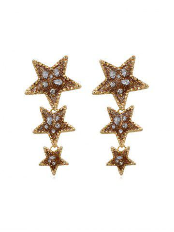 Shape Star Long Earrings