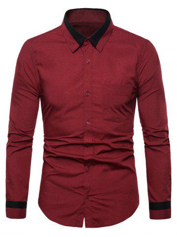 Pocket Design Button Up Casual Style Shirt
