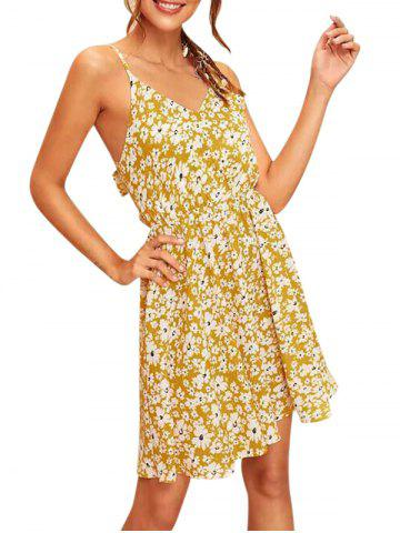 Knotted Back Ditsy Floral A Line Cami Dress