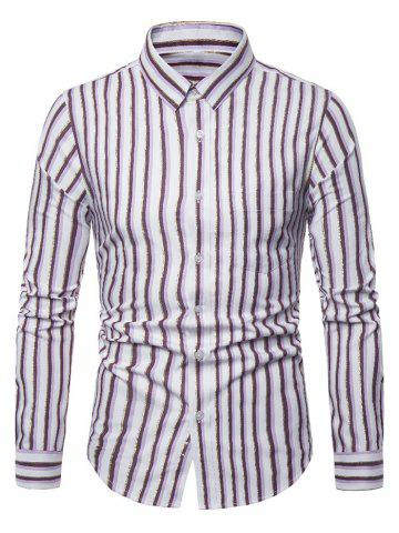 Striped Pattern Casual Long Sleeves Shirt