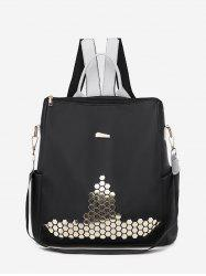 Casual Geometric Sequin Backpack -