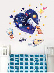 Space Dream of Dog Print Removable Wall Art Stickers -