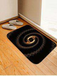 Abstract Spiral Pattern Water Absorption Area Rug -