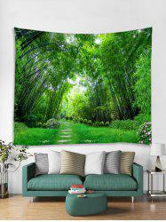 Bamboo Forest Trail Print Tapestry Wall Hanging Art Decoration -