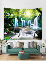 3D Print Animal Forest Waterfall Wall Tapestry -