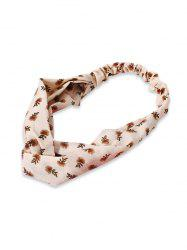 Cross Tiny Floral Elastic Headband -