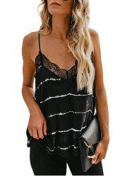 Lace Panel Trim Spaghetti Strap Top -