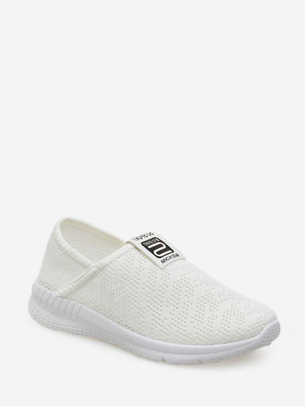 Évider conception maille occasionnels chaussures