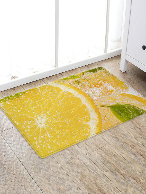 Online Lemon Water Drink 3D Print Floor Rug