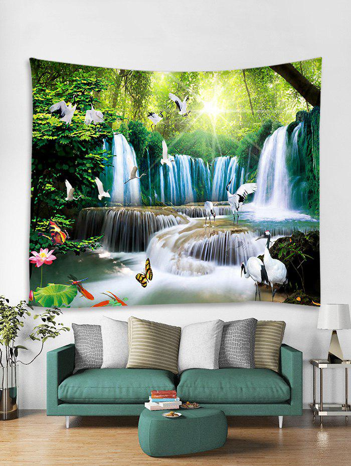 Buy 3D Print Animal Forest Waterfall Wall Tapestry