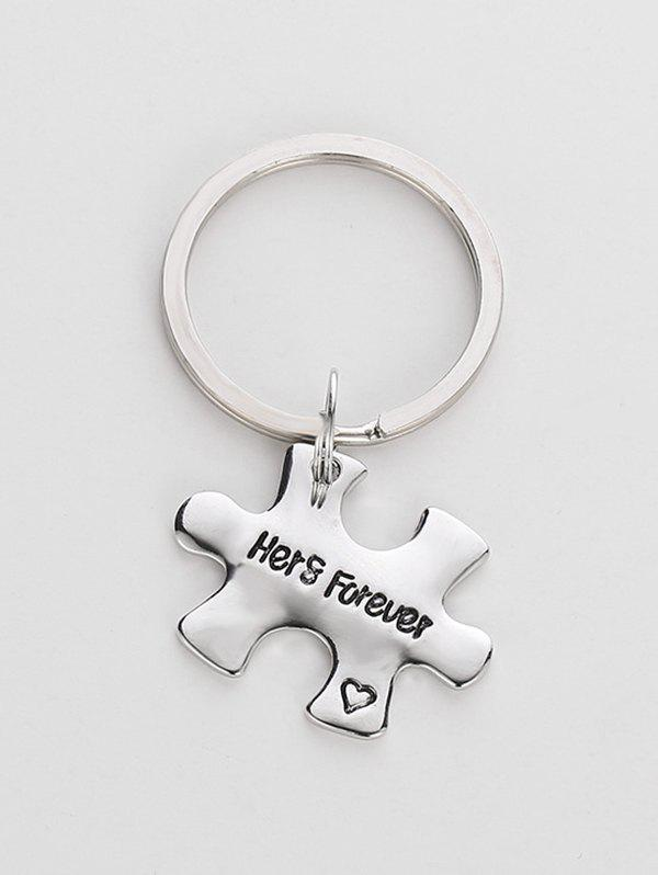 Fashion Letter Carved Design Alloy Key Rings