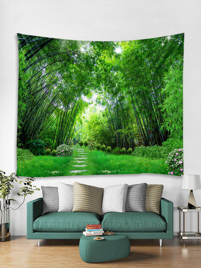 Store Bamboo Forest Trail Print Tapestry Wall Hanging Art Decoration