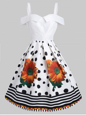 Sunflower Vintage Fit and Flare Dress