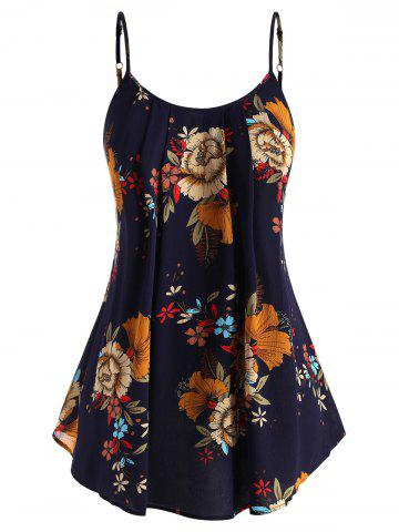 Plus Size Floral Print Swing Cami Top