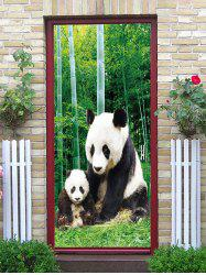 Bamboo Forest Panda Print Decorative Door Art Stickers -