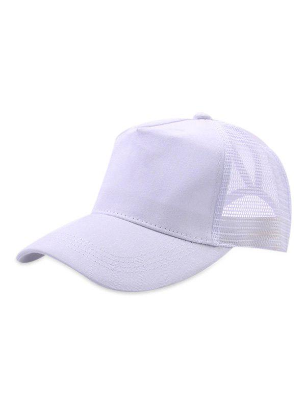 Latest Mesh Trim Solid Color Baseball Hat