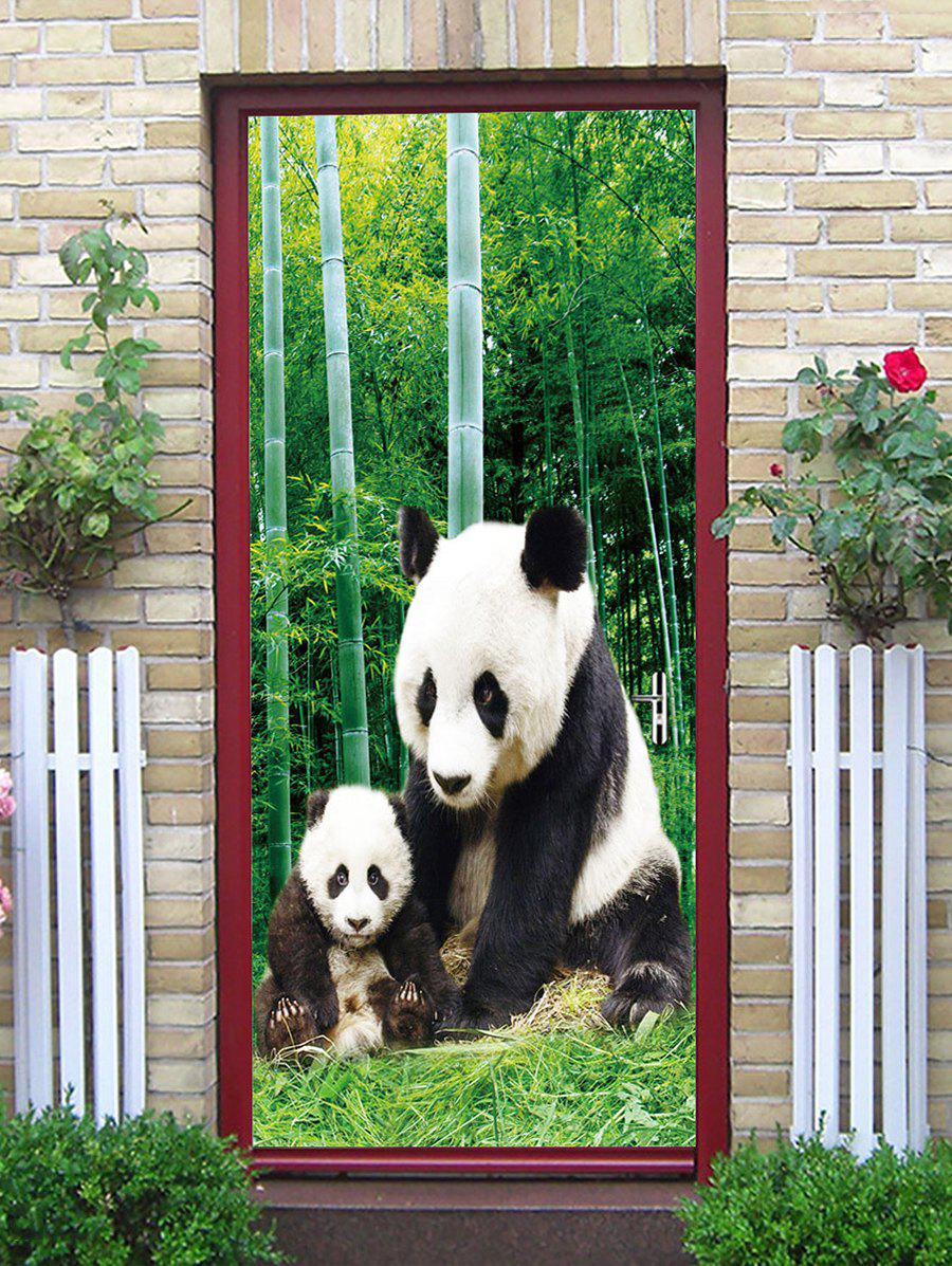 Shops Bamboo Forest Panda Print Decorative Door Art Stickers