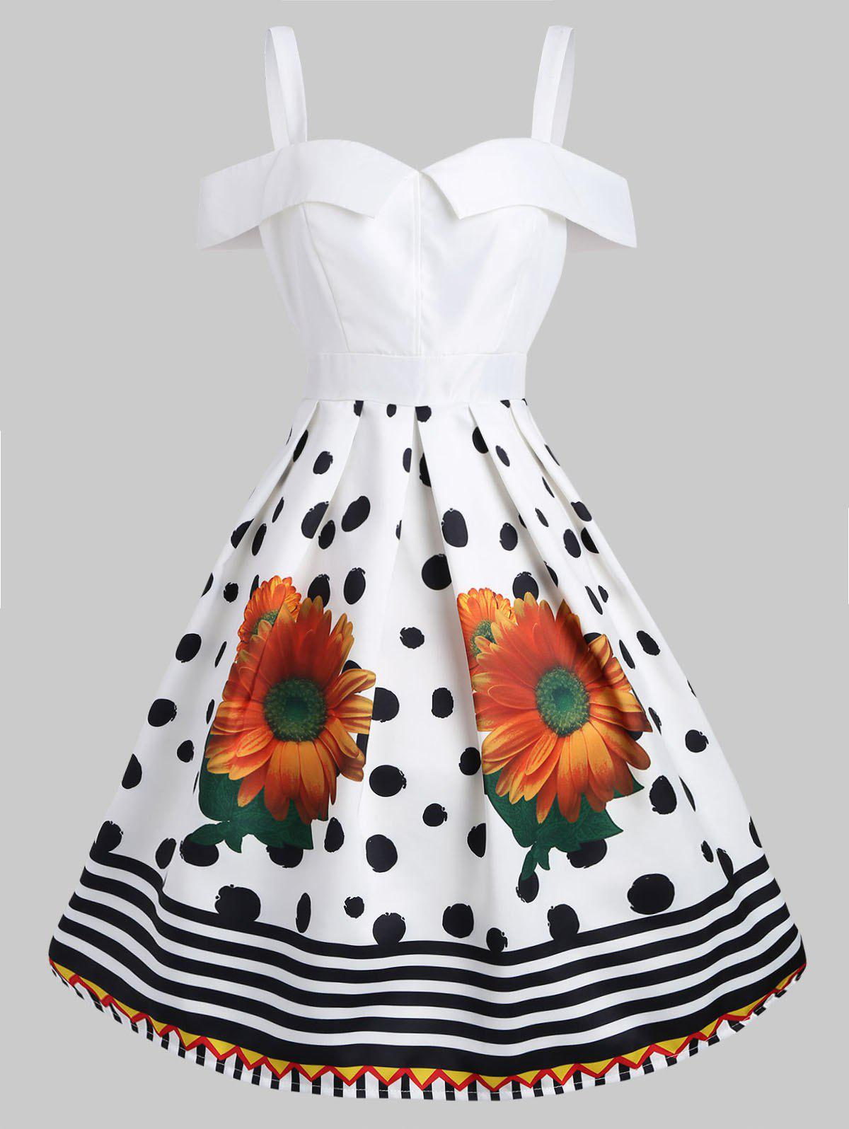 Store Sunflower Vintage Fit and Flare Dress