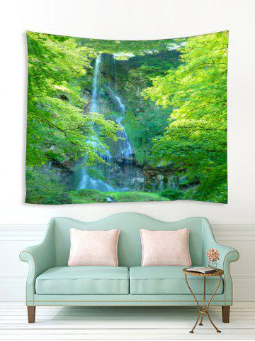 Forest Trees Waterfall Print Tapestry Wall Hanging Art Decoration