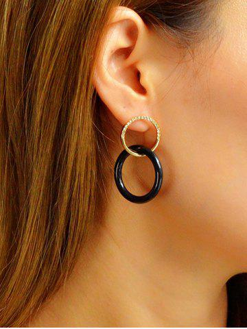 Diamante Dual Circle Drop Earrings