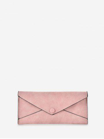 Solid Color PU Leather Envelope Long Wallet
