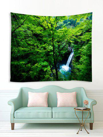 Forest Tree Waterfall Print Tapestry Wall Hanging Art Decoration