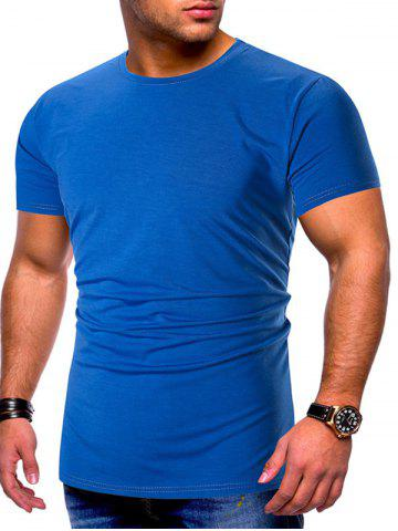 Solid Color Short Sleeves Basic T-shirt