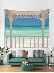 3D Beach Pattern Tapestry -