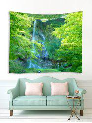 Forest Trees Waterfall Print Tapestry Wall Hanging Art Decoration -