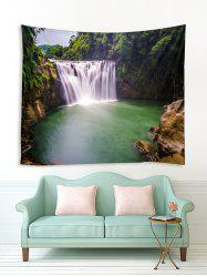 Forest Waterfall River Print Tapestry Wall Hanging Art Decoration -
