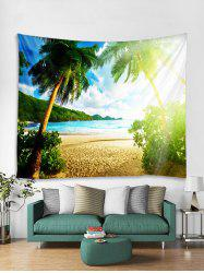 Sunshine Coconut Trees Pattern Tapestry -