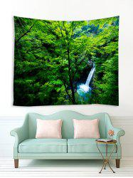 Forest Tree Waterfall Print Tapestry Wall Hanging Art Decoration -