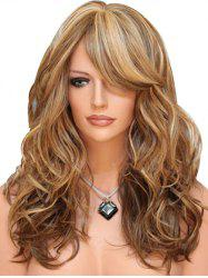 Synthetic Long Side Bang Body Wave Wig -