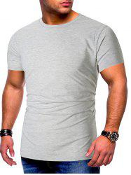 Solid Color Short Sleeves Basic T-shirt -
