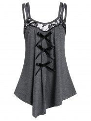 Asymmetrical Bowknot Tank Top -