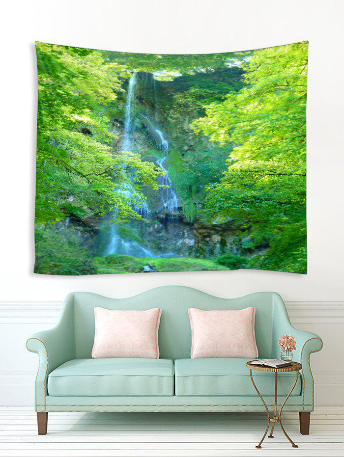 Affordable Forest Trees Waterfall Print Tapestry Wall Hanging Art Decoration