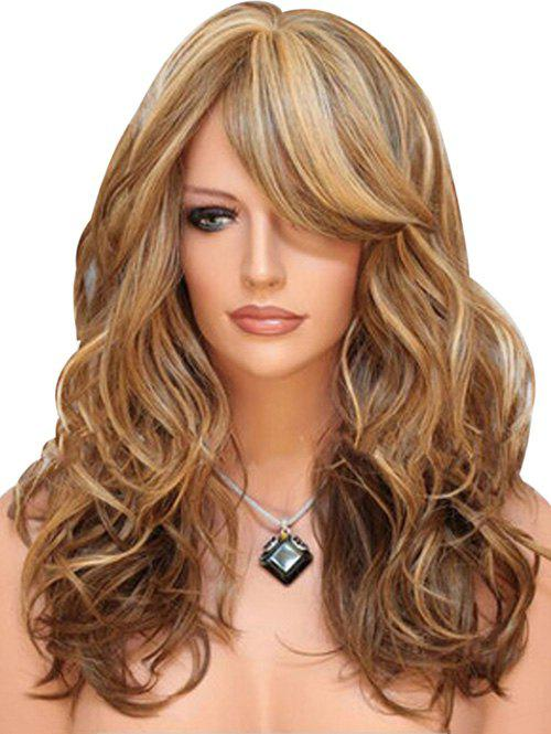Cheap Synthetic Long Side Bang Body Wave Wig
