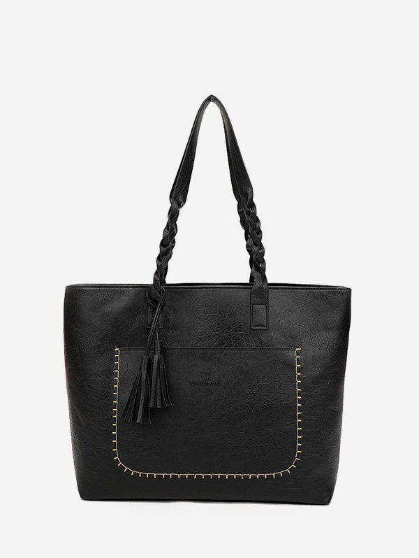 Sale Vintage Tassel Braid Shoulder Tote Bag