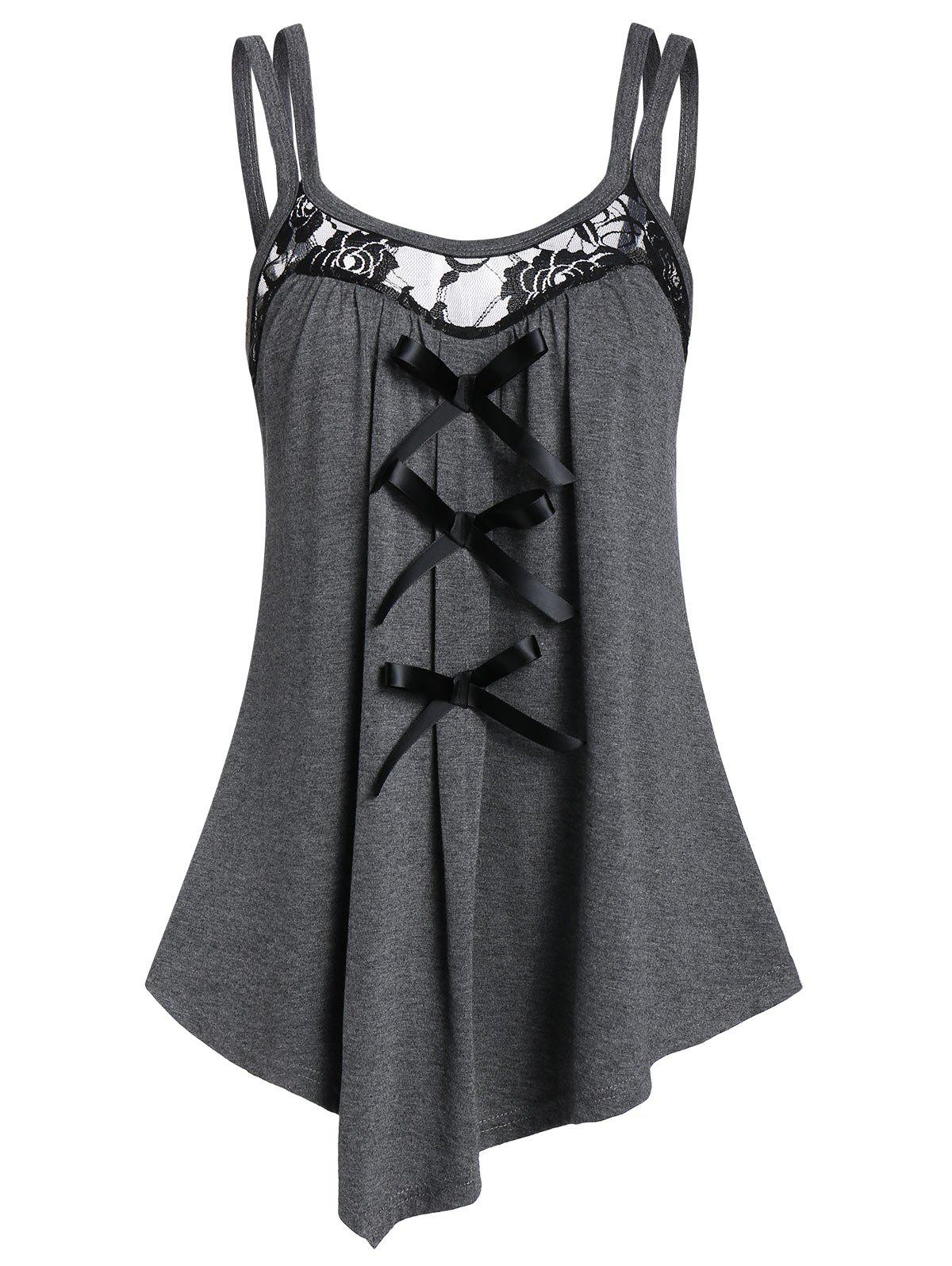Outfits Asymmetrical Bowknot Tank Top