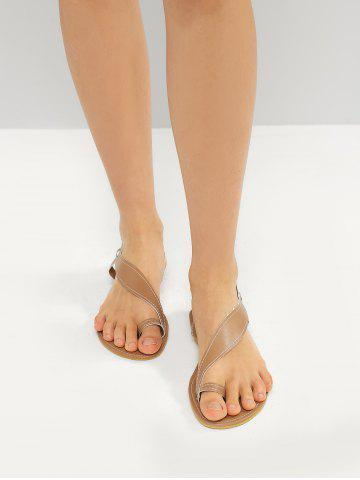 Toe Loop Asymmetrical Flat Sandals