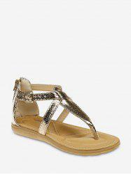 Flat Animal Print Toe Post Sandals -