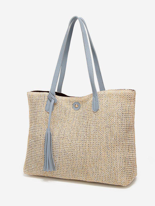 Outfit Straw Weaving Simple Big Tote Bag