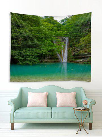 Forest Waterfall River Print Tapestry Wall Hanging Decoration