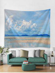 Clear Sky Beach Print Tapestry Wall Hanging Art Decoration -