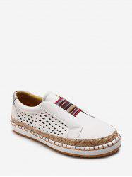 Colorful Band Slip On Flat Shoes -